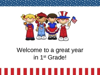 Open House/Back to School PowerPoint - Patriotic/USA Theme