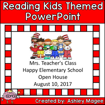 Open House/Back to School PowerPoint Presentation Reading Kids Theme
