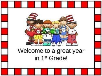 Open House/Back to School PowerPoint Presentation Reading Kids Theme