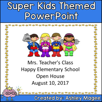 Open House/Back to School PowerPoint Presentation SuperHero Kids Theme