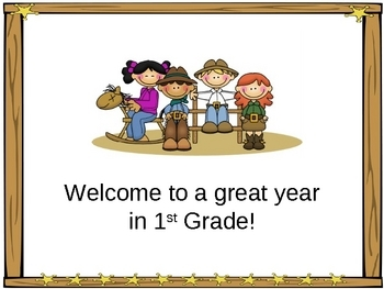 Open House/Back to School PowerPoint Presentation Western/Cowboy Theme