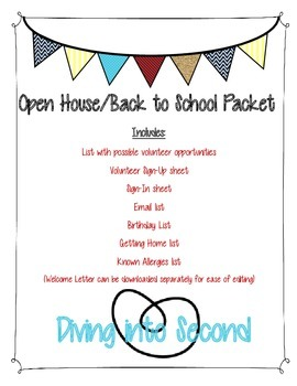 Open House/Back to School Student and Parent Information