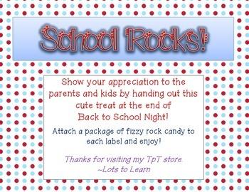 Open House/Back to School Treat