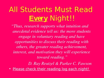 Open House/Curriculum Night PowerPoint for Parents