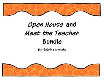Open House/Meet the Teacher Bundle