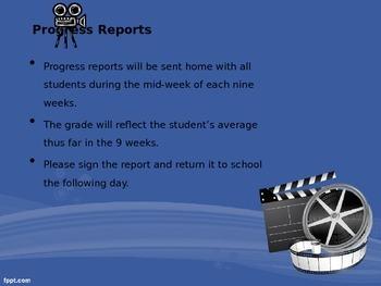 Open House/Meet the Teacher Movie Theme Powerpoint