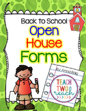 Open House/Meet the Teacher/Back to School Night  Parent Forms Freebie