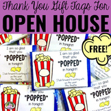Open House or Meet The Teacher Popcorn Gift Freebie