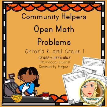 Open Math Problems - Community Helpers - Ontario Kindergarten and Grade 1