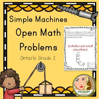 Open Math Problems - Simple Machines - Ontario Grade 2