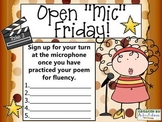 Open Microphone Friday Sign