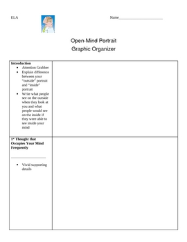 Open-Mind Portrait Writing Assignment & Creative Project