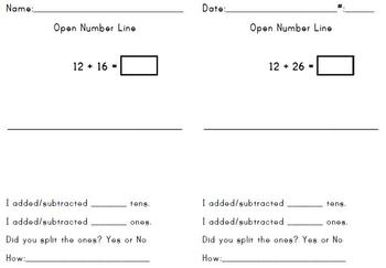 Open Number Line 2 digit #s