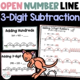 Open Number Line 3 Digit Subtraction Practice - Second and Third Grade