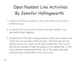 Open Number Line Activities