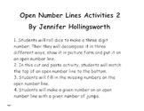 Open Number Line Activities 2