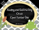 Open Number Line: Adding and Subtracting Folder Game