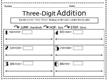 Open Number Line Addition