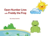 Open Number Line Addition Strategy PPT with Freddy the Frog