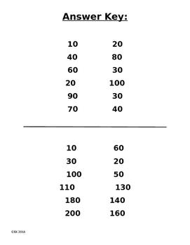 Open Number Line Benchmark of 10 Ten