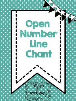 Open Number Line Chant