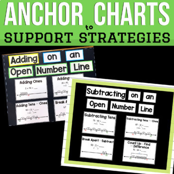 Open Number Line First and Second Grade Addition Subtraction Practice Bundle