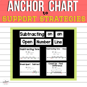 Open Number Line First and Second Grade Subtraction Practice