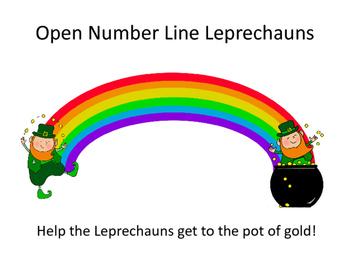 Open Number Line Leprechauns