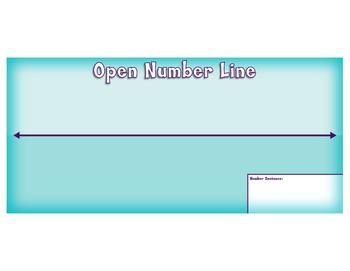 Open Number Line Mat