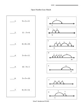 Open Number Line Matching