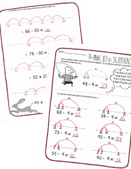 Open Number Lines Activities, Addition and Subtraction with Regrouping