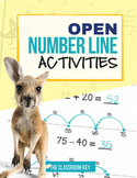 Open Number Lines Activities, Addition and Subtraction with Regrouping 2.NBT.B.5
