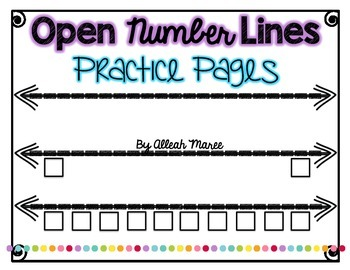 Open Number Line Practice Pages