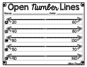 Agile image with open number line printable
