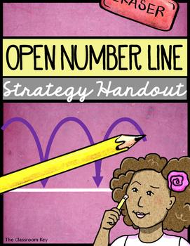 Open Number Line Strategies Handout Freebie