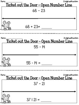 Open Number Line Subtraction