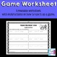 Open Number Line Subtraction: Instructional PowerPoint, Game, and Worksheet