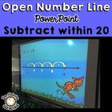 Open Number Line Subtraction: Instructional PowerPoint, Ga