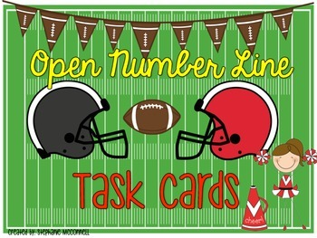 Open Number Line Task Cards and Posters