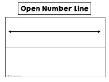 open number line template free by mercedes hutchens tpt
