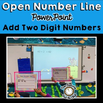 Open Number Line Two Digit Addition: Instructional PowerPoint