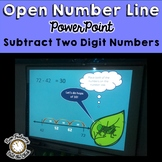 Open Number Line Two Digit Subtraction: Instructional PowerPoint