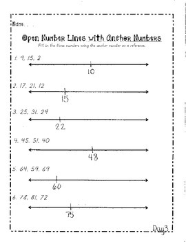 Open Number Line Unit
