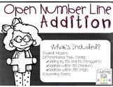 Open Number Lines - Addition {Student Helpers & Differentiated Task Cards}