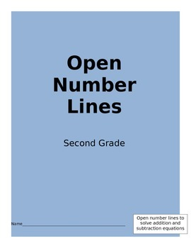 Open Number Lines for Addition/Subtraction within 100