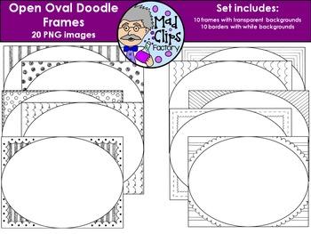 Open Oval Doodle Frames