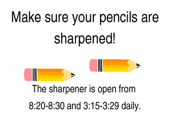 Open Pencil Sharpener Sign