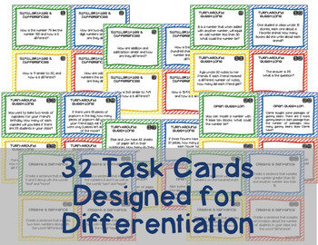 Open Question / Open Response Task Cards {Operations & Algebraic Thinking}