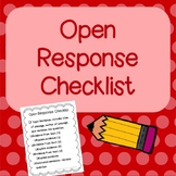 Open Response Checklist