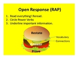 Open Response Hamburger Visual Graphic Organizer